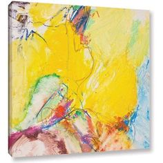 ArtWall Allan Friedlander Crystal Gallery-Wrapped Canvas, Size: 36 x 36, Blue