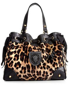 43463f63b2 Juicy Couture Handbag, Leopard Velour Daydreamer & Reviews - Handbags &  Accessories - Macy's