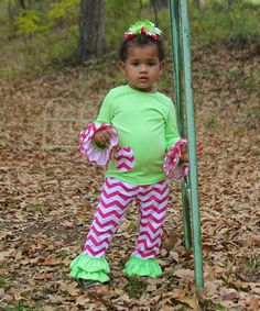 Look what I found on #zulily! Hot Pink & Lime Zigzag Tee & Pants - Infant, Toddler & Girls by Diva Daze #zulilyfinds