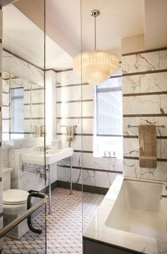 A 1930s NYC Apartment Gets an Elegant New Bathroom Design Photos | Architectural Digest