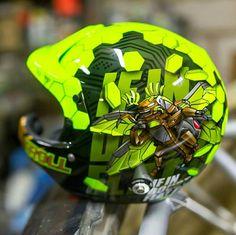 Motorcycle Helmet Design, Motorcycle Tank, Racing Helmets, Pinstriping, Helmet Paint, Custom Airbrushing, Custom Helmets, Cool Motorcycles, Custom Paint