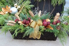 Window box Christmas planter