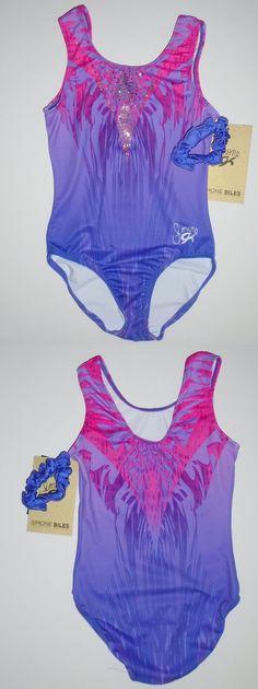 Leotards and Unitards 152354: Gk Elite Gymnastics Leotard Child Large Pink Purple Free Ship! -> BUY IT NOW ONLY: $42.95 on eBay!