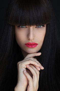 Beauty. -- I want my bangs back...