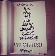 think about such things. // philippians 4:7
