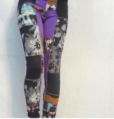 Purple HazeOne of a Kind Patchwork Leggings by SparrowAndAsh, $32.00