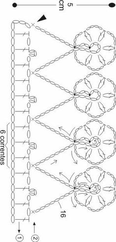 This post was discovered by ma Crochet Stitches Chart, Crochet Edging Patterns, Crochet Lace Edging, Crochet Diagram, Crochet Trim, Filet Crochet, Crochet Designs, Crochet Doilies, Crochet Boarders