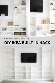 Ikea built-in hack. mommo design: ikea hacks for kids - brimnes hack. Handmade Home Decor, Cheap Home Decor, Diy Home Decor, Home Decor Hacks, Decor Crafts, Ikea Billy Bookcase Hack, Built In Bookcase, Billy Bookcases, Ikea Billy Hack