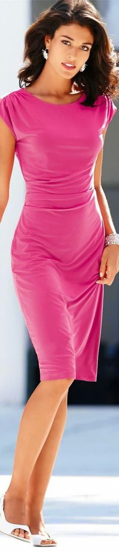 Rouching looks good on everyone. I normally don't wear such bright colors, but would wear this.