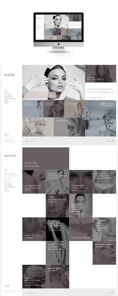 Identity, logo, web design for Dr Kubik aesthetic medicine center.