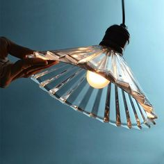 Vintage Industrial Copper Crystal Umbrella Pendant Ceiling Light Lamp