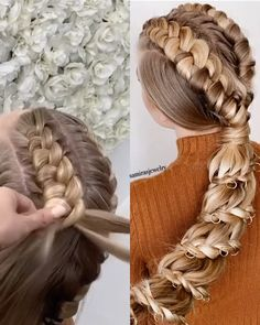 Easy Hairstyles For Long Hair, Spring Hairstyles, Cute Hairstyles, Wedding Hairstyles, Hairstyles Videos, Everyday Hairstyles, Formal Hairstyles, Images Of Hairstyle, Braided Ponytail Hairstyles