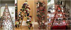 13 Ideas de cómo decorar con escaleras en esta navidad ~ cositasconmesh