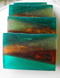 Green Irish Tweed Melt and Pour Soap by cleanbreak on Etsy, $4.00