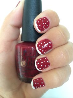 Cute and easy winter nails