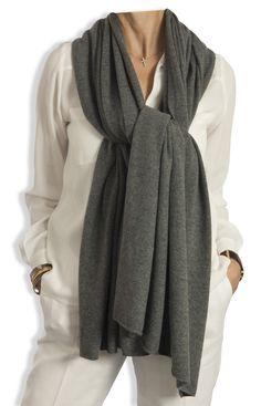 Cashmere Wrap - Charcoal Grey by Catherine Robinson www.catherinerobinsoncashmere.com