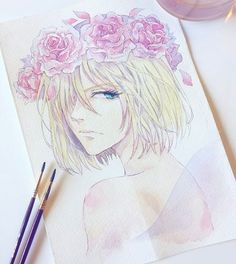 yurio is literally a fairy goddess. DAMN I LOVE THIS ~beautiful artist- ailetei on tumblr
