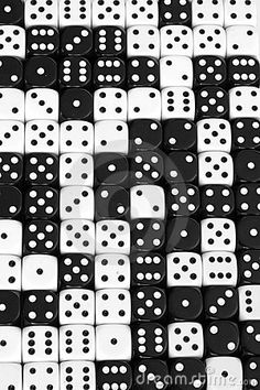 Black and White Dice - I LOVE looking at dice and dominoes. Also marbles. I collect all sorts of unusual and different dice, too.