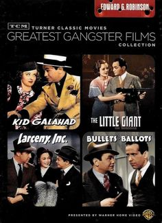 TCM Greatest Gangster 4 Films Collection Edward G Robinson DVD SEAL FREE SHIP US #WarnerBrothers