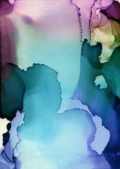 Fiesta Gardens by Andrea Pramuk Alcohol Ink Painting, Alcohol Ink Art, Ink In Water, Silk Painting, Painting Art, Marble Art, Silk Art, Resin Art, Watercolor Paintings