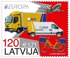 """Pastmarkas """"Pasta transports"""" sērijā """"Eiropa"""", 2013"""