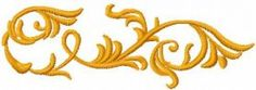 gold decoration free embroidery design 21. Machine embroidery design. www.embroideres.com
