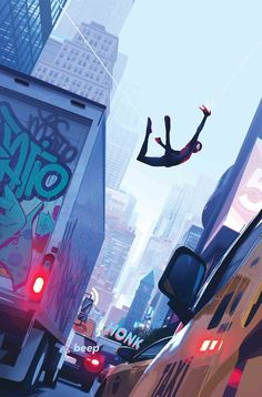 Into the Spider-Verse Art Director Patrick O'Keefe makes a surprise Marvel Comics appearance for a special Miles Morales cover. Spiderman Kunst, All Spiderman, Amazing Spiderman, Spiderman Sketches, 2160x3840 Wallpaper, Marvel Wallpaper, Scarlet Spider, Spider Gwen, Comic Books Art