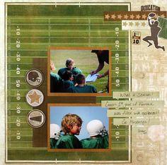 Football Scrapbook Layout Idea from Creative Memories
