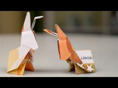 Folding banknotes Easter bunnies – making money gifts for Easter – folding money bunnies – origami animals – Scarf Ideas 2020 Bunny Origami, Origami Animals, Folding Money, Easter Bunny, Affair, How To Make Money, Place Card Holders, Diy Crafts, Gifts