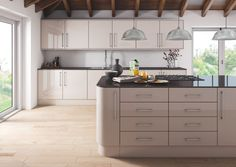 Zurfiz Ultra Gloss Cashmere.  The Zurfiz doors come in 17 colour options.  All these doors are available in the kitchen and bedroom range and are available in both standard and made to measure sizes.