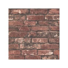 Brickwork Wallpaper ❤ liked on Polyvore featuring home, home decor, wallpaper and exposed brick wallpaper