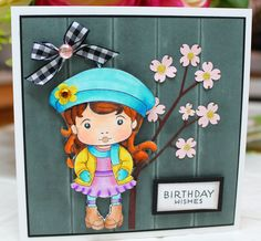 Birthday wishes card I created - listed on my Etsy site -http://www.etsy.com/shop/LesleysCardz