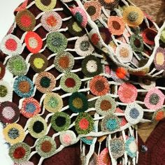Sophie Digard Crochet ~ The Creatory Knit Art, Crochet Art, Love Crochet, Crochet Flowers, Crochet Stitches, Crochet Hooks, Yarn Crafts, Diy And Crafts, Handmade Scarves