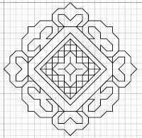 Close-up Blackwork pattern Blackwork Patterns, Blackwork Embroidery, Paper Embroidery, Hand Embroidery Patterns, Cross Stitch Embroidery, Quilt Patterns, Embroidery Designs, Islamic Pattern, Zentangle