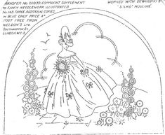 Spring Vintage Embroidery Pattern