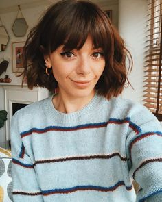 bob hairstyles with bangs Short Haircuts With Bangs, Bob Haircut With Bangs, Haircut For Thick Hair, Short Hair Cuts, Short Hair Styles, Hair Short Bobs, Short Bob Thick Hair, Bangs Short Hair, Bobs For Thick Hair