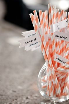 Orange stripe straws