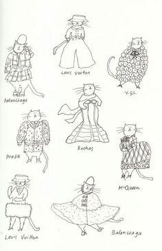 Grace Coddington cats