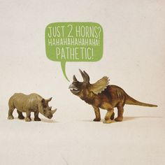Dinosaur meets evolved animal version