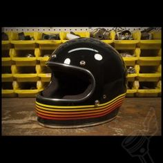 "The Biltwell ""Gringo"" Limited Edition Spectrum Full-Face Helmet - Black & Orange"