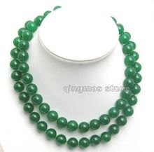 "Bonito! 12 mm 33 "" colar de jade e original bonito Clasp-jad1006(China (Mainland))"