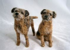Needle felted border terriers by adore62,