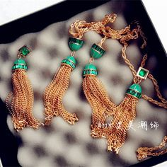 Find More Information about brand design emerald rhinestone tassel long sectioin pendant necklace  ladies long necklace,High Quality necklace and earring gift box,China necklace cord for pendants Suppliers, Cheap necklace slide from Crystal Color Store(Min Order $10) on Aliexpress.com