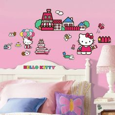 product image for Roomates Hello Kitty Peel & Stick Wall Decals