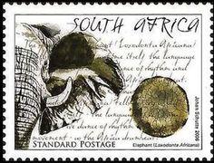 Stamp: Elephant (South Africa) (Animal's Tracks) Mi:ZA 1717