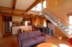 Living Space with Stove, Wonder Device. ワンダーデバイス モデルハウス紹介 | BESS 岐阜 株式会社BESSパートナーズ