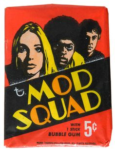 1968 Mod Squad Trading Cards & Bubble Gum by Topps