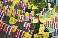 Thai and Royal flags - Bangkok