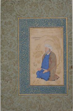 Portrait of Ustad Muhammad Ali Date: 17th century Geography: Iran Medium: Opaque watercolor and gold on paper Dimensions: H. 9 11/16 in.. (24.6 cm) W. 5 7/16 in. (13.8 cm) Metropolitan Museum of Art 55.121.25