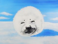 Harp Seal by Ed Capeau Painting Print on Wrapped Canvas